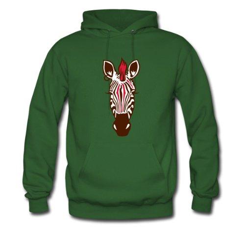 Spreadshirt, Zebra Punk, Men's Hoodie, green, XL