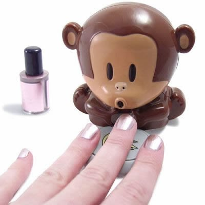 Mini-Cute-Plastic-Monkey-Finger-Nail-Polish-Varnish-Air-Dryer-Blower-By-VAGA