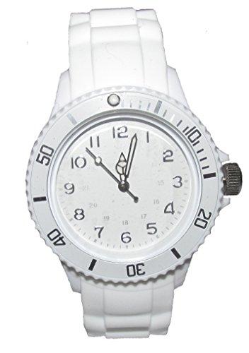 Stylischer Chronometer Armbanduhr weiß