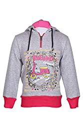 Cool Quotient Girl's Sweatshirts [CQGW15I104_Grey_7-8 Years]