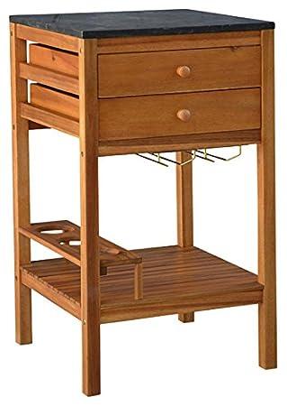 Dehner cassetto congelatore South Hampton, ca. 90x 50x 50cm, legno di acacia FSC/granito, colore naturale