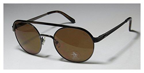 Original Penguin The Everett Mens Round Full-rim Sunglasses/Shades (52-20-140, Gunmetal)