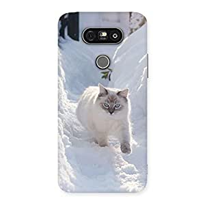 Snow Cat Back Case Cover for LG G5