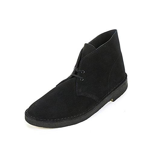 Clarks - Desert Boot, Stringate da uomo, nero (black suede), 46