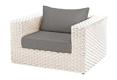 Diamond Garden Lounge Toulouse, Sessel White Shell