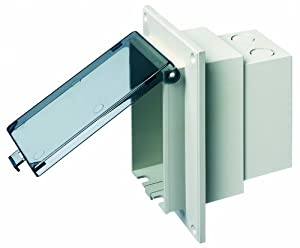 Arlington DBVR1C 1 Outdoor Electrical Box With Weatherproof Cover For Flat Su