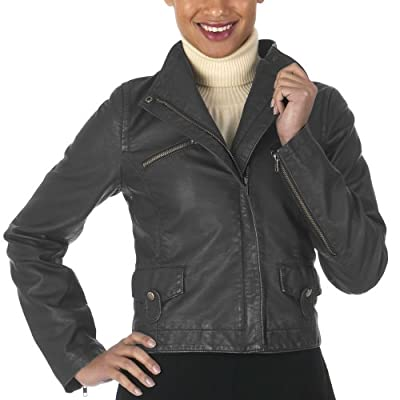 Mossimo Black Faux Leather Biker, $17.