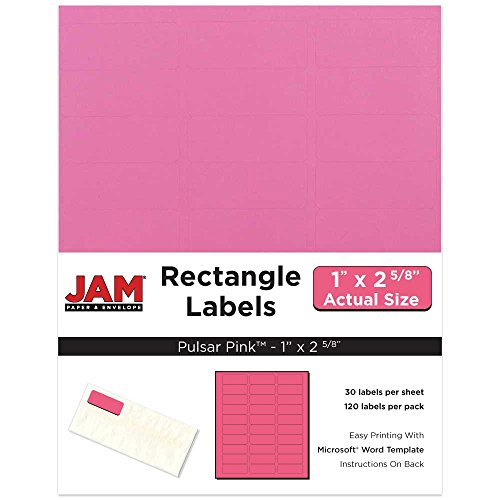 JAM PAPER Shipping Labels  Full Page  5 12 x 8 12