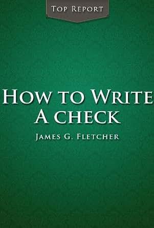 proper way to write a check