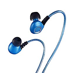 Poweradd EL Flashing Earphones In-Ear Sports Headphones with Microphone for Hands-Free Calls for Apple iPhone Android [Perfect for Biking Running Gym Exercise Party Gifts] - Blue