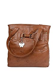 Butterflies Womens Handbag (Rust) (BNS 0169)