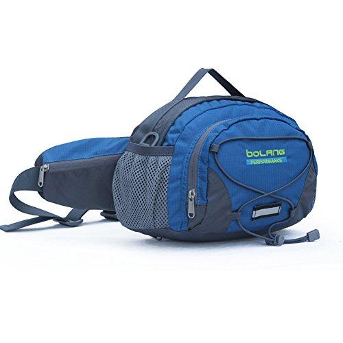 Outdoor peak da ciclismo unisex cintura in nylon borsa marsupio escursionismo Sport, blue 2, Taglia unica