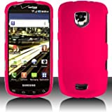 Pink Hard Plastic Rubberized Case Cover for Samsung i510 Droid Charge 4G LTE ~ Samsung