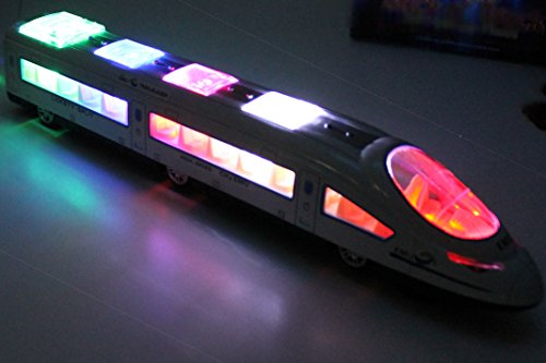 Musical 3D High Speed Lightning Electric Train Toy For Kids, Bump & Go
