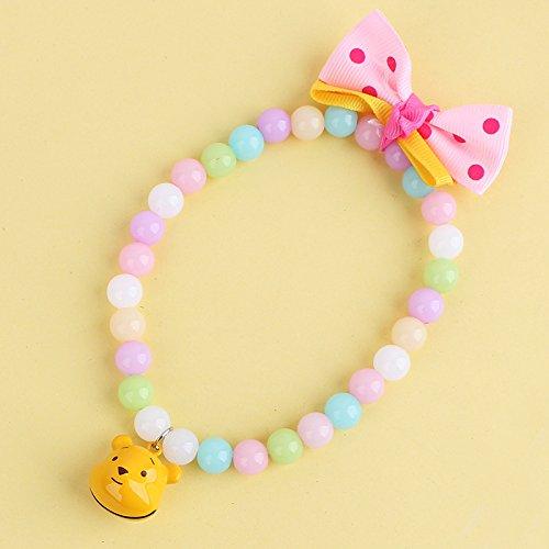rexul tm new pet products gelb blau rosa farbe mischen hunde katzen perlen halsband mit karton. Black Bedroom Furniture Sets. Home Design Ideas
