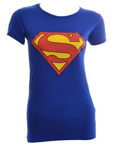 VIP Womens Superman Supergirl T Shirt Top