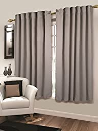 Tailormader 2 Piece Top Thermal Insulated Blackout Curtain Heavy Duty Fabric 52\