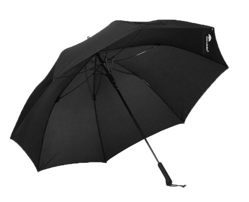 The Unbreakable(アンブレイカブル) 長傘 ジャンプ傘 Standard Walking-Stick Umbrella Straight Handle Black