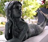 Cast Iron Laying Mermaid Figure ~ Nautical Garden Decor