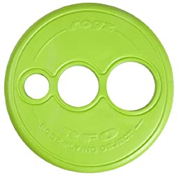 Rogz Flying Object Disc Dog Toy, Lime