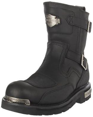 Harley-Davidson Men's Manifold Motorcycle Boot,Black,7 M US