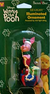 Santa's Best EZ-Light Illuminated Piglet Ornament