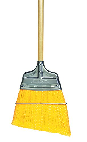 Milwaukee Dustless Brush, Upright broom, yellow flagged poly angled, wood handle (Speedy Corn Broom compare prices)