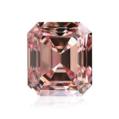 0.71 Carat Argyle Fancy Intense Pink Loose Diamond Natural Color Emerald Cut GIA
