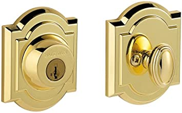 Baldwin 380 ARB L03 SMT CP RCAL Single Cylinder Arched Deadbolt Featuring SmartKey, Lifetime Polished Brass