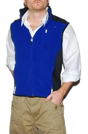 Ralph Lauren RLX Mens Athletic Running Gym Fleece Vest Jacket Blue Black Medium