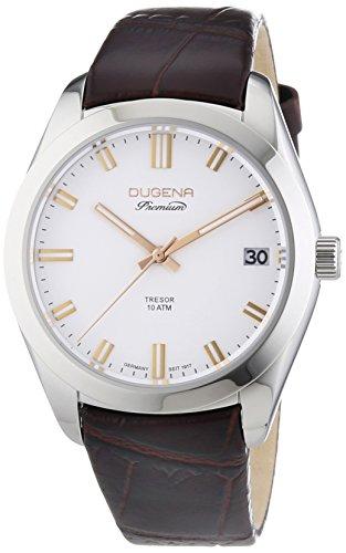 Dugena  Dugena Premium - Reloj de automático para hombre, con correa de cuero, color marrón