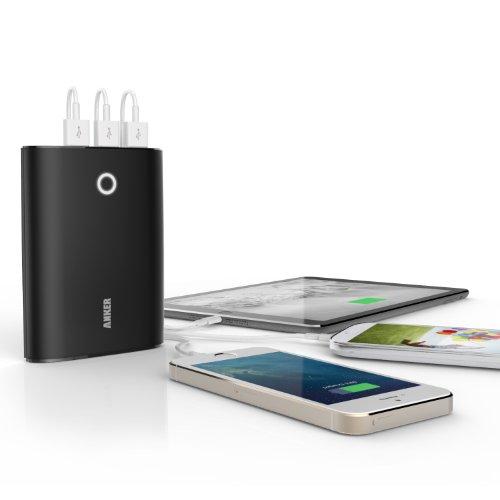 ANKER Astro3 第2世代 12000mAh 高性能 大容量 モバイルバッテリー 3USBポート同時充電 iPhone5S 5C 5 4S / iPad Air / iPod / Galaxy / Xepria / Android / 各種スマホ / Wi-Fiルータ等対応(日本語説明書付き) Astro3 (2gen)