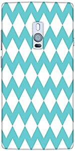 Snoogg Waves Vs Wave 2570 Designer Protective Back Case Cover For One Plus Two