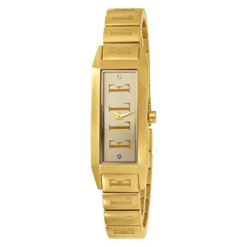 ELLETIME Women's EL20086B04C Ion-Plating Gold Dial Watch
