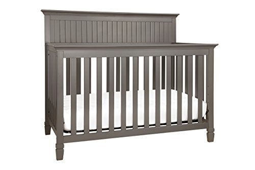 DaVinci Perse 4-in-1 Convertible Crib with Toddler Bed Conversion Kit, Slate