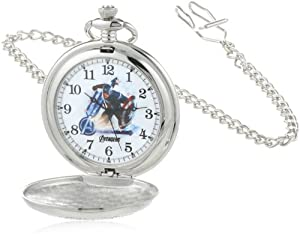 Marvel Comics Men's W000462 Captain America Pocket Watch