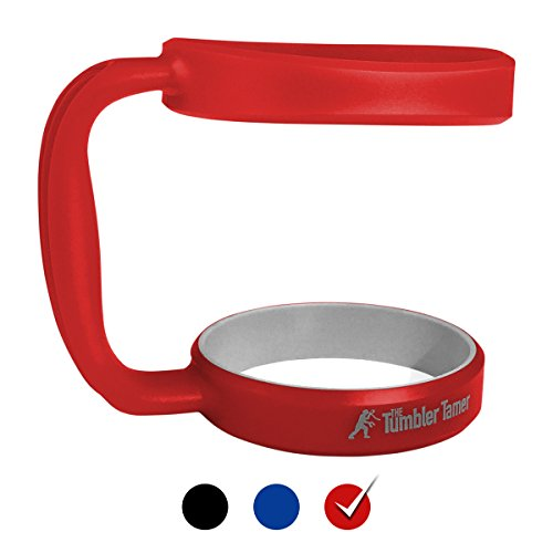 Handle for Yeti Rambler 30 Oz - The Tumbler Tamer - fits RTIC OzarkTrail SIC Thermik & many others - Rambler Red