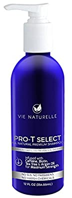 Vie Naturelle Hair Loss Treatment Shampoo for Fast Hair Growth - DHT Blocker Infused with Caffeine, Biotin, Tea Tree & Argan Oil