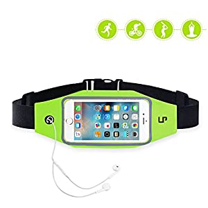 LP Running Flip Fitness Workout Belt , Money Belt Waist Pack for Jogging , Gym Workouts , Walking , Exercise , Hiking , Outdoor travel Iphone6 6s 6 Plus unisex ( green )