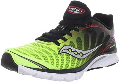 Saucony Men's Progrid Kinvara 3 Running Shoe,Black/Citron/Red,8.5 M US