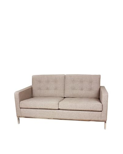 Control Brand The Draper Love Seat, Wheat