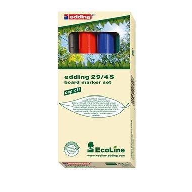 Edding-marqueur permanent ecoLine 4-29-4 29 1-5 mm-différents coloris 4 etui