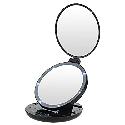 Kedsum 1x5x Led Lighted Double Sided Makeup Mirror- Folding Vanity And Travel Mirror from KEDSUM