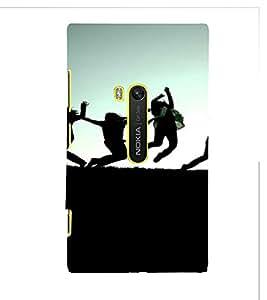 PrintVisa Fun Jump Group Silhouette Design 3D Hard Polycarbonate Designer Back Case Cover for Nokia Lumia 920