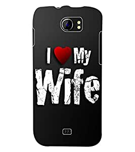 ColourCraft I Love My Wife Back Case Cover for MICROMAX CANVAS 2 A110