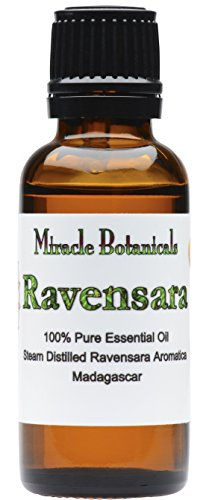 Miracle Botanicals Ravensara Essential Oil - 100% Pure Ravensara Aromatica - 10ml or 30ml Sizes - Therapeutic Grade - 30ml