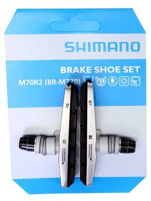Buy Low Price Shimano Deore XT M70R2 (BR-M770) V-Brake Shoes Pair With Holder Black (Y8EM9802A)