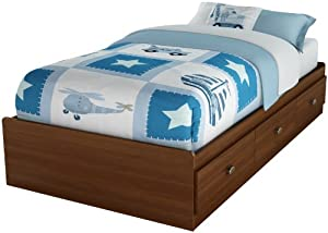 South Shore Willow Collection Twin Mates Bed 39-inch Sumptous Cherry from South Shore Furniture