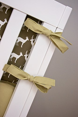 Modified Tot Crib Bedding, Deer in Earth