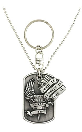 Harley-Davidson Dog Tag, Freedom Is Not Free Bar&Shield Chain/Key Chain HDJD0018